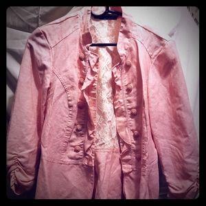 Baby pink maurices sz.L blazer